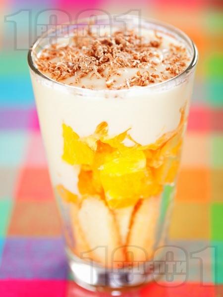 Портокалов десерт с крем ванилия - снимка на рецептата